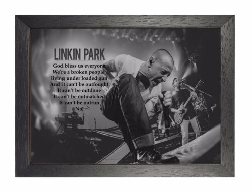 Linkin Park The Catalyst Lyrics American Rock Metal Band Poster Music Legend
