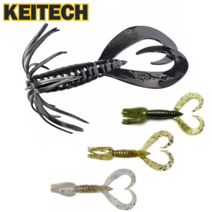 """KEITECH Bass Fishing Scented Soft Bait Lure LITTLE SPIDER 3.5"""""""