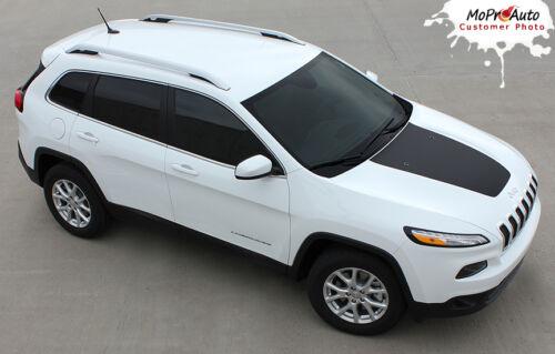 2014-2019 Jeep Cherokee T-HAWK Trailhawk Hood 3M Vinyl Graphics Stripes Decals