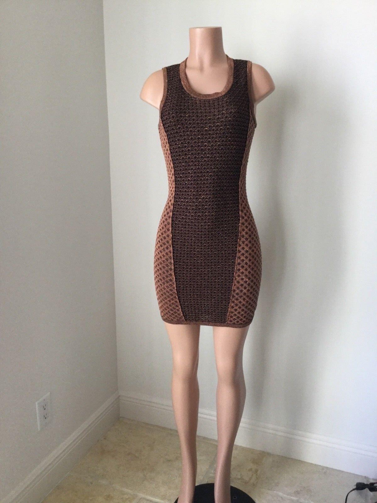 Rag & bon women's evening dresses sexy classy sleeveless metalic club wear XS