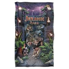 Jurassic Park Movie Poster WELCOME TO THE PARK Lightweight Fleece Throw Blanket