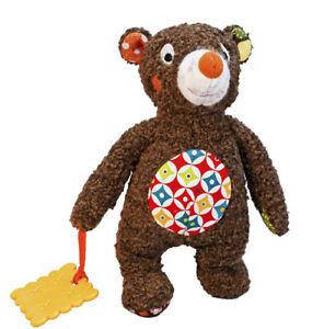 New Woodours Ebulobo DouDou Tizours #E50008 Small Brown Bear Teether Lovey Doll