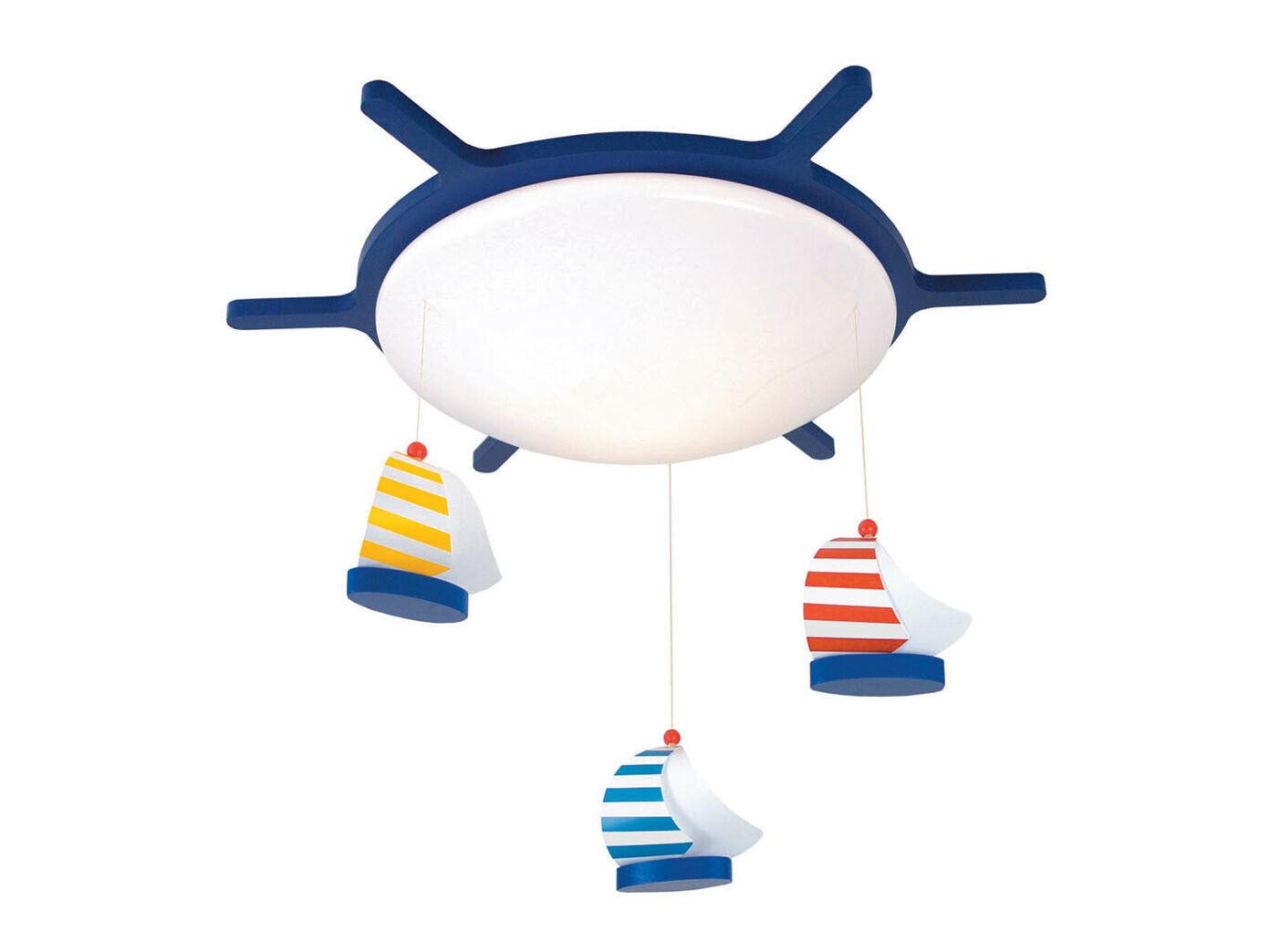 DEL chambre enfant Plafonnier Lampe Variateur environ Design volant avec Mobile Bateaux à voile