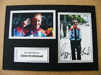 LIZZIE ARMITSTEAD HAND SIGNED AUTOGRAPH A4 PHOTO DISPLAY & COA OLYMPIC CYCLING