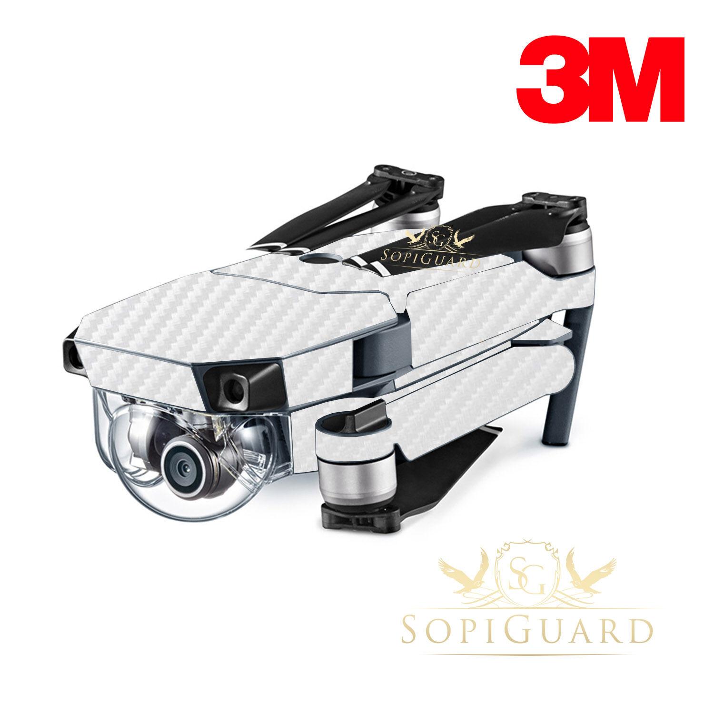 SopiGuard 3M White Carbon Fiber Skin Wrap Wrap Wrap Battery Controller for DJI Mavic Pro fe001f