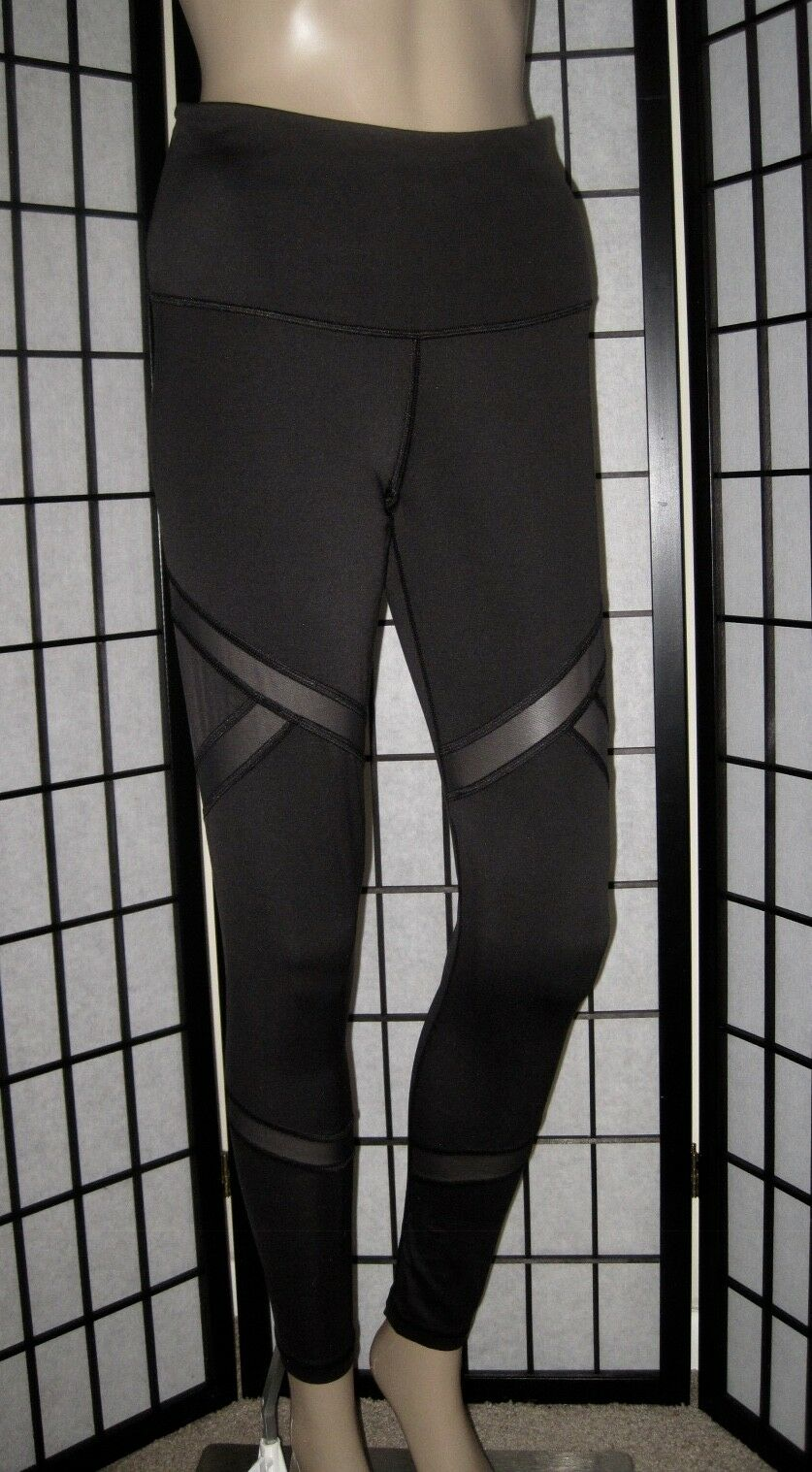 Activewear Bottoms Women's Clothing Vsx Small White Mesh Knockout Tights