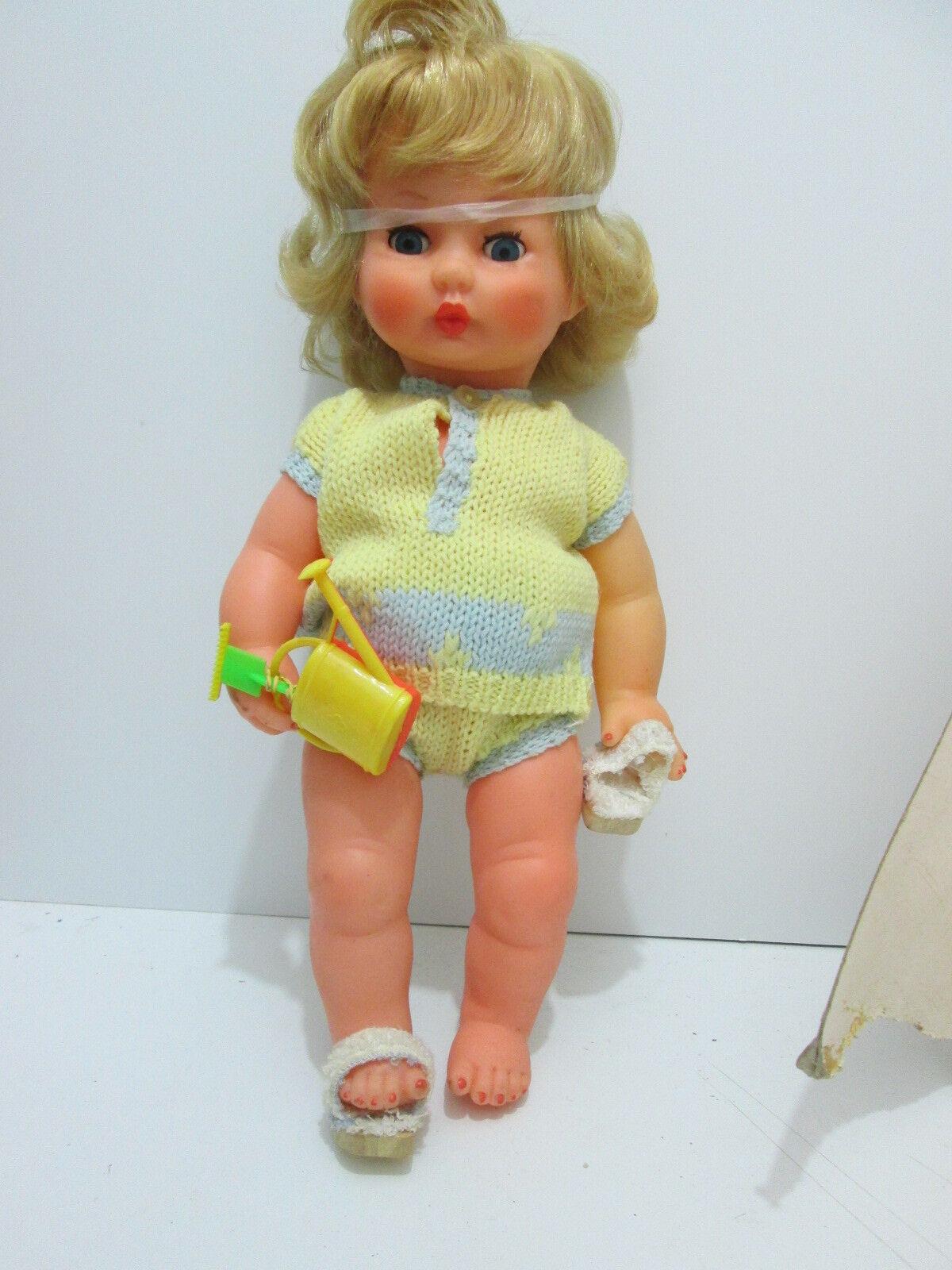 BELLA E RARA BAMBOLA  MIGLIORATI    ANNI '60  35 CM. bambola POUPEE MUNECA  consegna e reso gratuiti