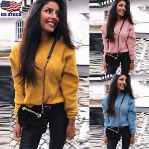 Womens-Sweatshirt-Jumper-Pullover-Tops-Ladies-Casual-Long-Sleeve-Knitwear-Blouse