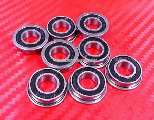 """25pcs FR8-2RS (1/2"""" x 1-1/8"""" x 5/16"""") Flanged Metal Rubber Sealed Ball Bearings"""