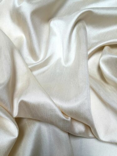 """Bridal Fabric 59/"""" and 118/"""" Wide Faux Silk Dupion Raw Silk 100/% Polyester Craft"""