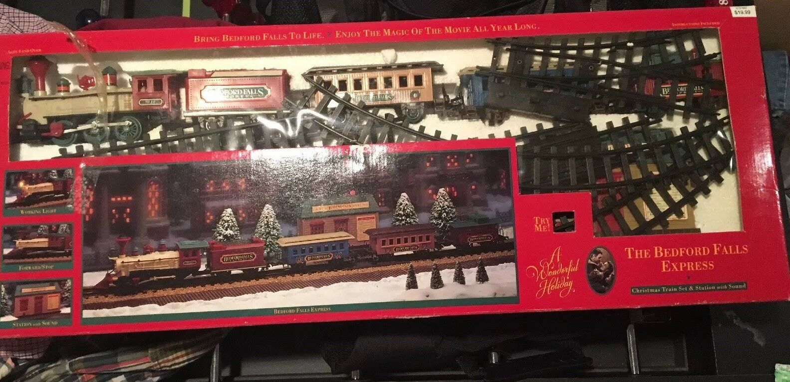 The Bedford Falls Express Train Set -From  A Wonderful Life  Movie - AAL1