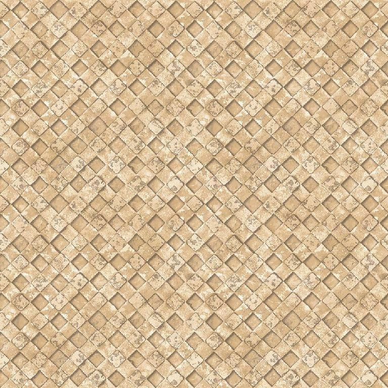 Essener Tapete Grunge G45338 Rhombus Mosaic Tile Beige Fleece Wallpaper Fleece