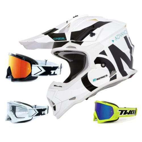 Oneal 2 series RL crosshelm Slick negro Weiss two-X Race gafas MX motocross