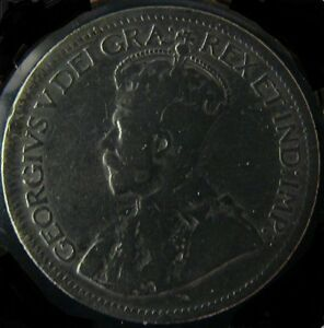 10-Cents-Canada-1929-George-V-Silver-Coin-VG-High-Grade