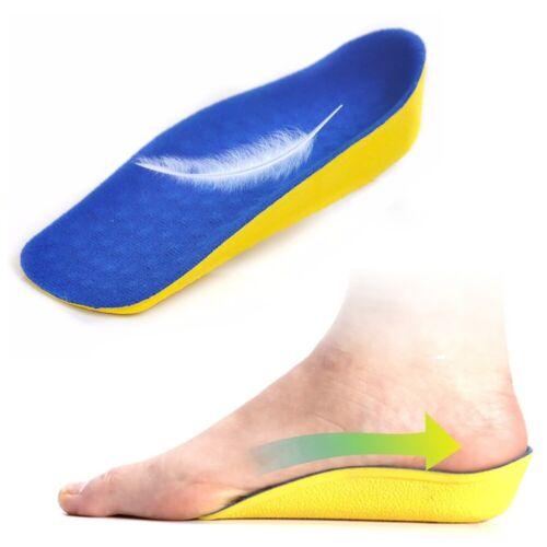1 Pair Height Increasing Heel Lift Half Insoles In High 2cm Pad Sock Blue P0T3