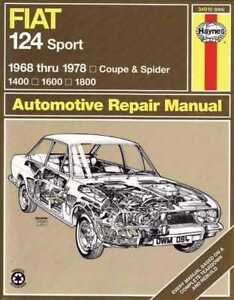 Fiat-124-Sport-Coupe-and-Spider-1400-1600-1800-1968-1978-Workshop-Manual