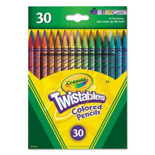 Crayola® Twistables Colored Pencils 30 Assorted Colors//Pack 071662874094