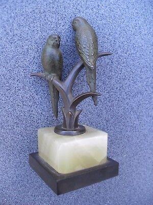 Antiquitäten & Kunst Bronze Impartial Mara Echt Bronze 2 Papageien Auf Baum Mit Onyxpostament Art Deco Rich In Poetic And Pictorial Splendor