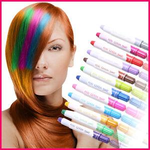das bild wird geladen 2 haarstifte haarfarbe haarkreide faerben haartoenung kreide farben