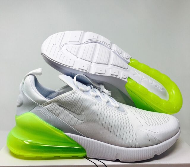 sports shoes 88be9 6264e NIKE AIR MAX 270 WHITE WHITE-VOLT SZ 15  AH8050-104