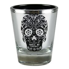 Day of the Dead Metallic Sugar Skull Party Shot Glass Novelty Joke Gag Gift