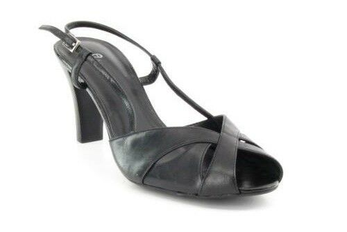 Ny ETIENNE AIGNER läder läder läder kvinnor Heel Peep Toe Slingback Sandal skor Sz 7.5 M  bästa kvalitet