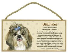 """""""Facts about the Shih Tzu"""" 5"""" x 10"""" hanging wooden sign dog lover pet gift"""