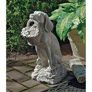 Man-039-s-Best-Friend-Design-Toscano-19-034-Dog-Statue-With-An-Antique-Stone-Finish