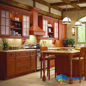 Image Is Loading Solid Wood Cabinets Cinnamon Kitchen 10x10 Rta