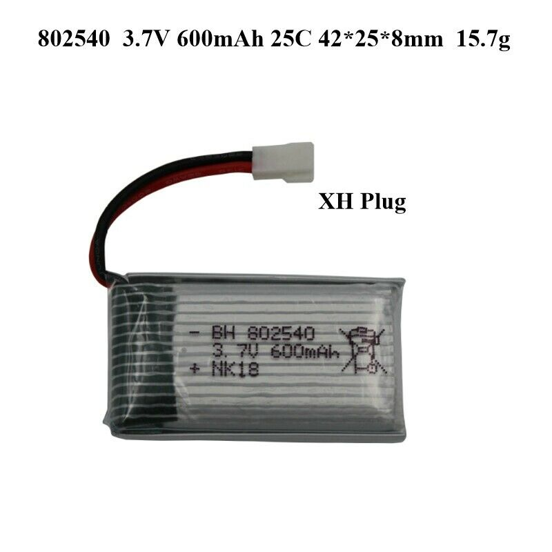 Image 4 - 2x-852540-Replacment-802540-3-7V-600mAh-XH-Plug-Battery-For-RC-Quadcopter-Drone