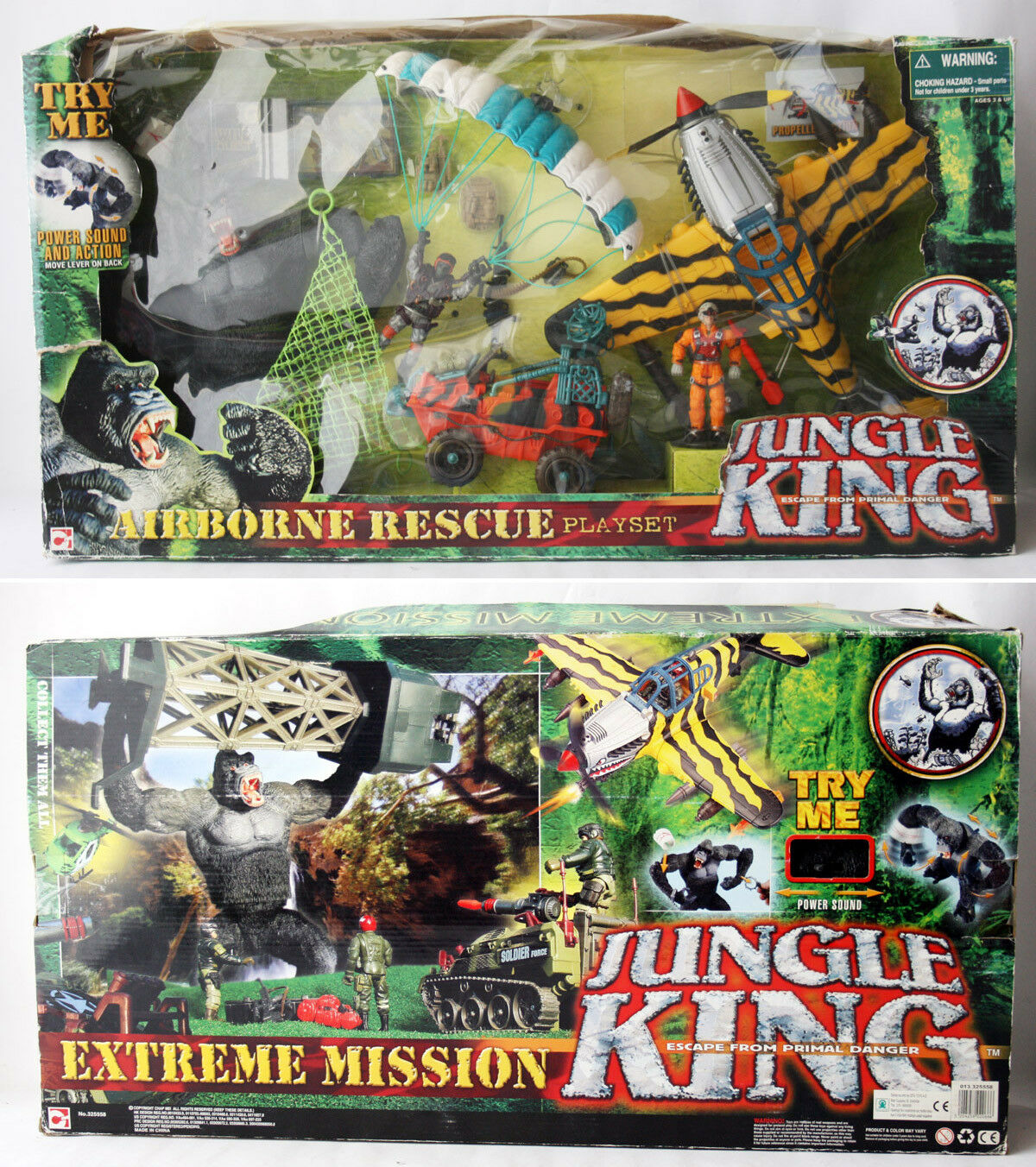 VERY RARE CHAP MEI JUNGLE KING AIRBORNE RESCUE PLAYSET GORILLA KONG NEW MIB