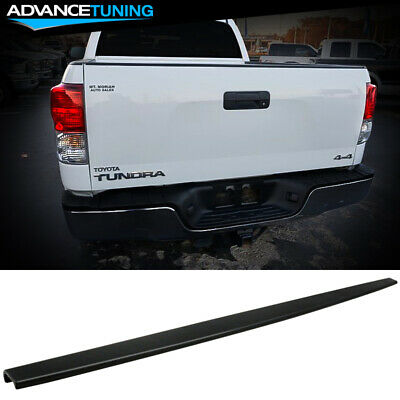 ECOTRIC Black Tailgate Molding Cap Spoiler Top Protector Cover W//Retainers for 2007 2008 2009 2010 2011 2012 2013 Toyota Tundra