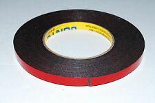 2 ROLL 10mm 10M Black Strong Black Adhesive Double Sided Foam Tape Car Trim A100
