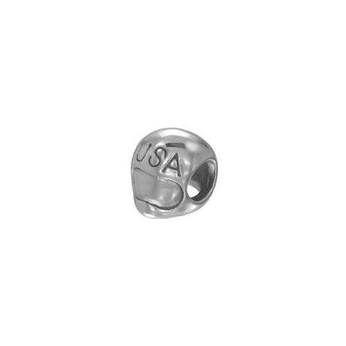 Watsup Silver Bead für Männer Silber Charms MKA-003  Helm USA
