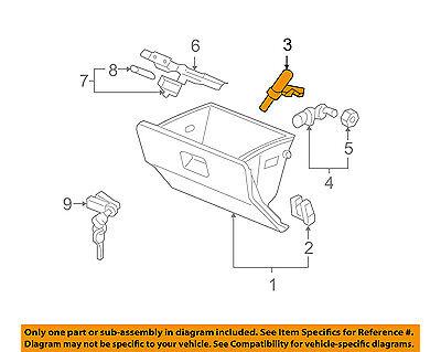 Honda Genuine 77530-SJC-A01 Glove Box Damper Assembly