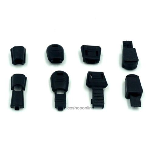 Cord Lock Ends Zipper Clip Plastic Pull Black Zip for Buckles Lanyard Paracord X