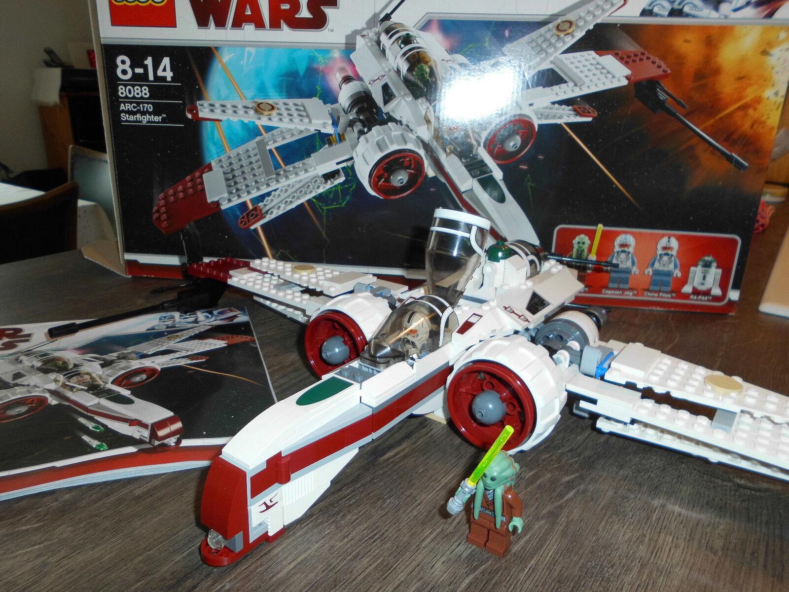 LEGO STAR WARS 8088 Starfighter ARC-170 mit Figuren vollständig Anleitung+Karton
