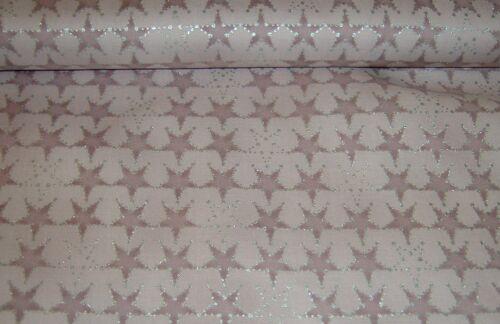 Weihnachten  Advent Amazing Stars  Sterne  rosenholz  Baumwolle   50x110 cm