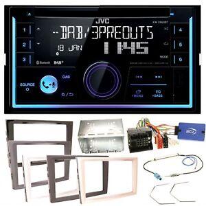 JVC-KW-DB93BT-USB-Bluetooth-Einbauset-fuer-Opel-Astra-H-Corsa-D-Zafira-B-Antara