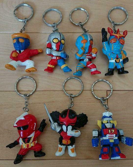 Japanese Power Rangers Key Ring Set of of 7 Vintage 1997-1998