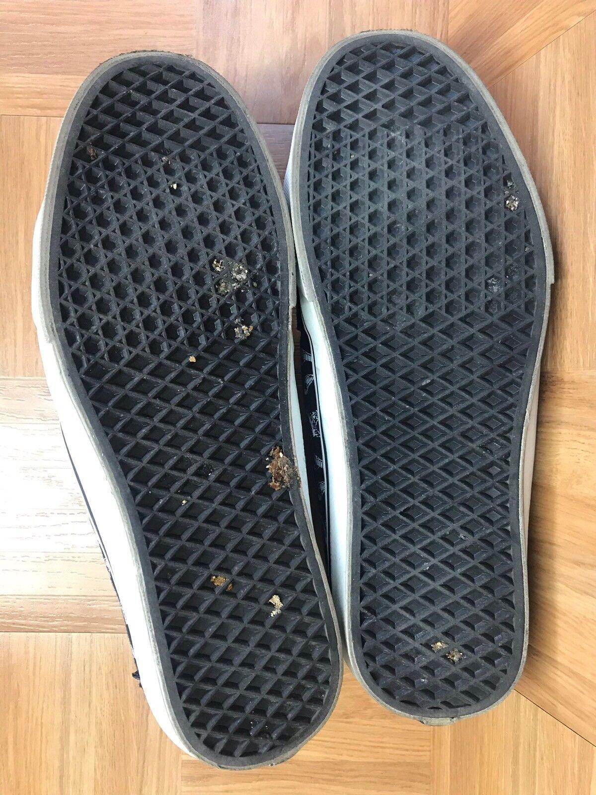 RARE VANS AV SK8-Low Taka Taka Taka Hayashi Black Skulls White Size 13 Men's shoes VNTG eb9130