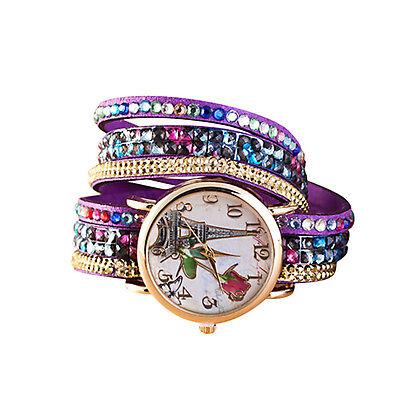 Fashion Women Watches Bling Rhinestone Bracelet Watch Analog Quartz Wrist Watch