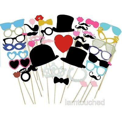 Mask Photo Booth Props Lips Moustache On A Stick Wedding Christmas Decoration