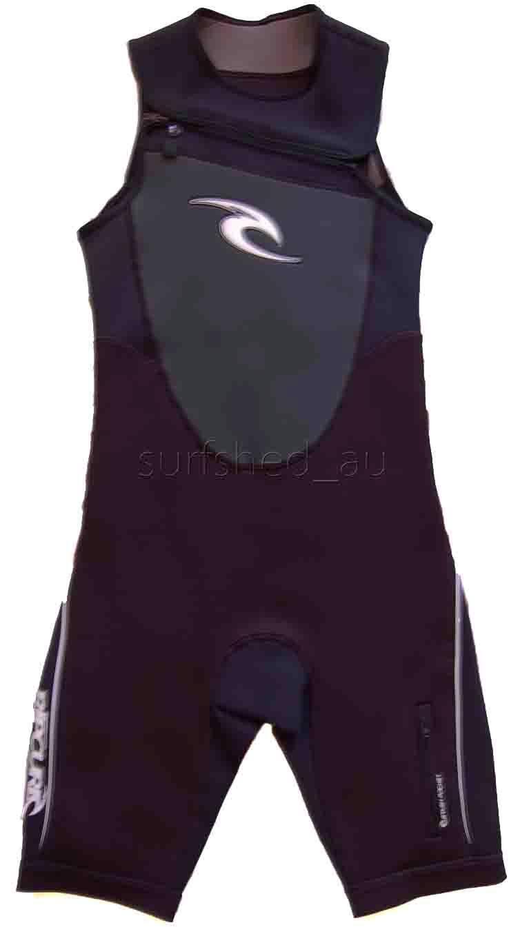 Rip Curl Dawn Patrol SHORT JOHN CHEST ZIP Mens Wetsuit Spring Suit Size S  SALE