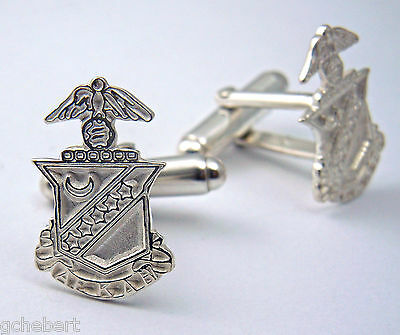Kappa Sigma, ΚΣ, Cufflinks Crest .925 Sterling Silver By McCartney