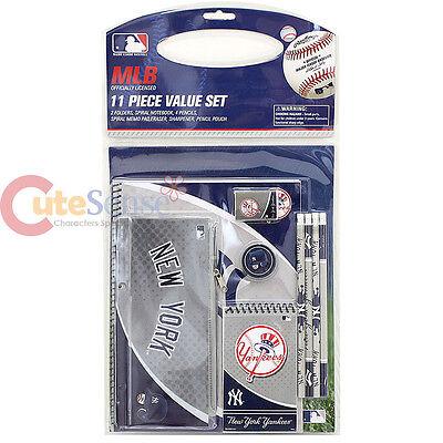 Sport 100% Wahr Mlb New York Yankees Schreibset 11pc Ny School Set Bürobedarf KöStlich Im Geschmack