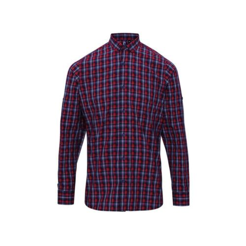 Cotone Camicia a maniche lunghe Premier Workwear Sidehill