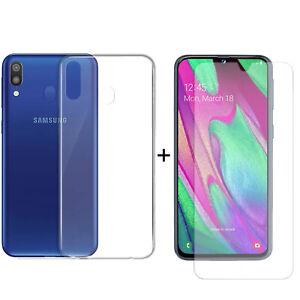 PACK-FUNDA-TRANSPARENTE-Protector-cristal-vidrio-templado-Samsung-Galaxy-A40