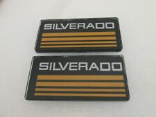 2 Yellow Line Cab Silverado Emblems Badges Side Roof Pillar Decals Plate