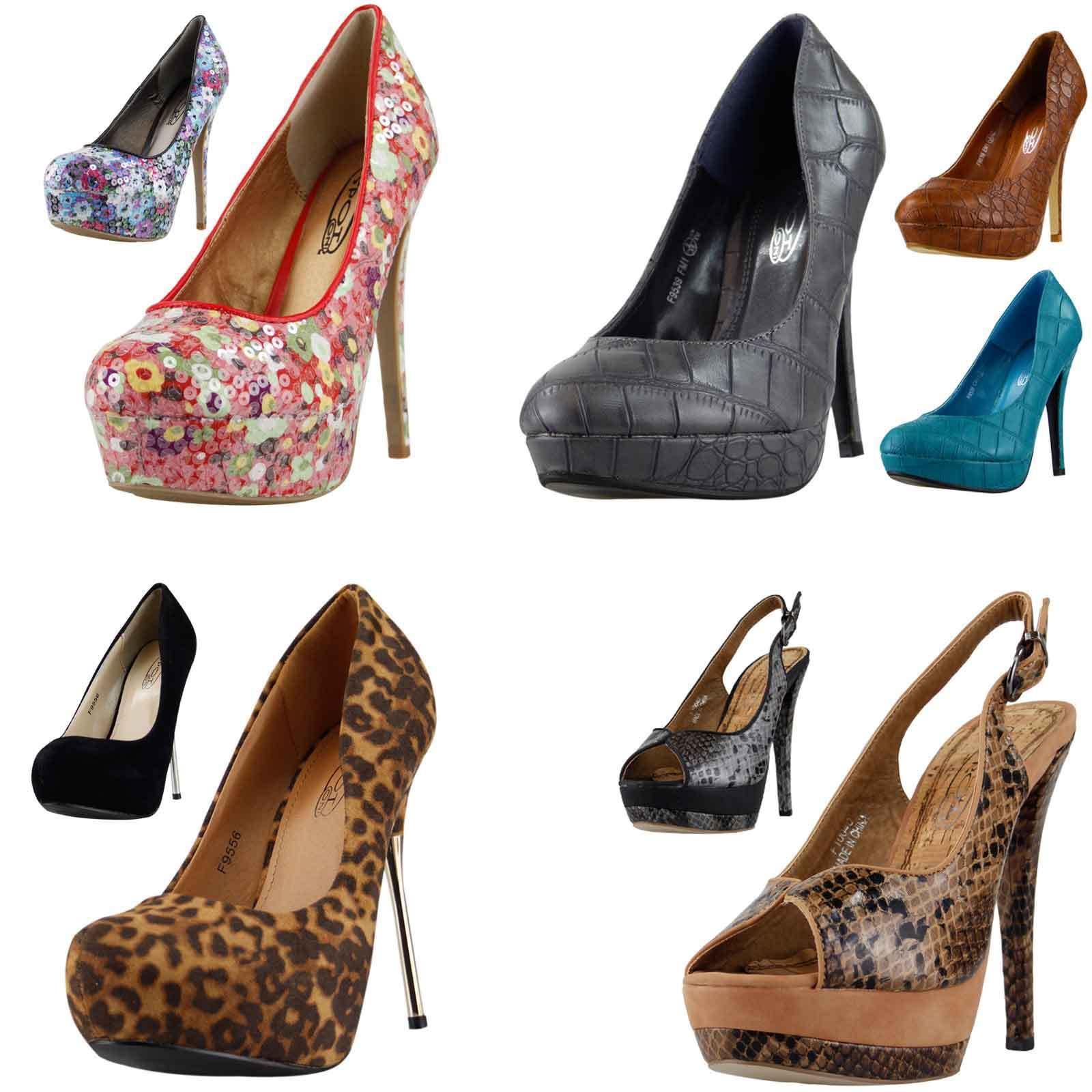 femmes escarpin Sandales plateforme talon haut grosses Sandales escarpin fête Affaire chaussures 62f6d8
